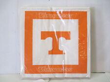 """Tennessee Volunteers Vols 4 packs of 24 Dinner Napkins 96 Total 6.5""""  NEW"""