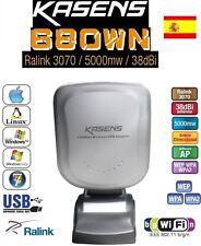 ADAPTADOR  5000MW ANTENA WIFI  38DBI KASENS 680WN  ENVIOS DESDE ESPAÑA 24H-48H