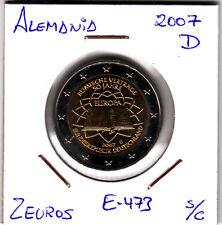 E473 MONEDA 2 EUROS SIN CIRCULAR 2007 TRATADO DE ROMA ALEMANIA D