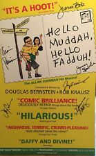 HELLO, MUDDAH HELLO, FADDAH! Signed 2001 Off Broadway Poster