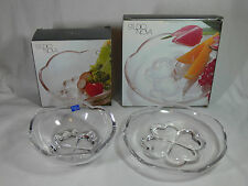 STUDIO NOVA BY MIKASA Sweethearts Crystal Glass 14cm Bowl 17cm Plate NEW UNUSED
