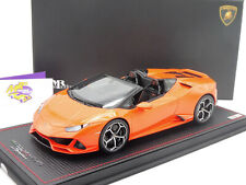 "MR Collection LAMBO037B # Lamborghini Huracan Evo Spyder "" orangemetallic "" 1:18"