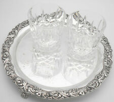 OLD SHEFFIELD PLATE SALVER TRAY - CLAW FEET - RE-SILVERED - ANTIQUE