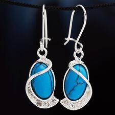 Türkis Silber 925 Ohrringe Damen Schmuck Sterlingsilber H315