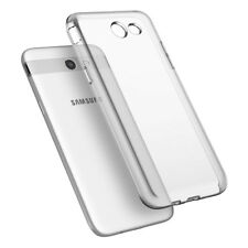 For Samsung GALAXY J3 Emerge Hybrid Rubber Protective Silicone Clear Case Cover