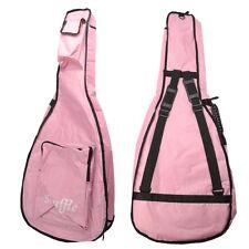 """41"""" Waterproof Gig Bag Case Padded Strap Backpack for Folk Acoustic Guitar Pink"""