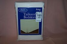 """Belles & Whistles King Size Tailored Bedskirt 78"""" x 80"""" Ivory Color New in Pack"""