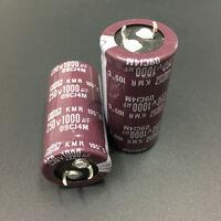 2pcs 1000uF 250V NCC KMR 25x50mm Downsized 250V1000uF PSU Electrolytic Capacitor
