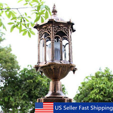 Post Pole Light Outdoor Garden Lantern Pillar Lamp Porch Yard Lighting Fixture