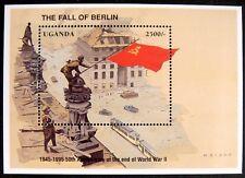 1995 MNH UGANDA WWII STAMPS SOUVENIR SHEET 5OTH ANV END OF WORLD WAR II BERLIN
