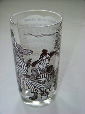 Vintage: SONG LYRICS Glass - TURKEY IN DE STRAW