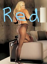 Red Fishnet Pantyhose Plus Size Shirley X90011