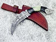 Stunning Custom Hand Forged Damascus Steel Full Tang Karambit Knife - UT-2741