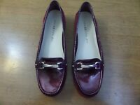 ANNE KLEIN iFLEX WOMEN'S MAROON RED SUEDE LEATHER FLAT SHOES SIZE 8.5 M