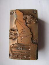 Antik Klischee Werbung Metall auf Holz Schornstein Zubhör  Dachdecker