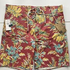 "Ralph Lauren RRL Hawaiian Cotton Boardshorts Swimming Short 34"" RRP £230"