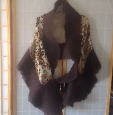 "BOUTIQUE ""DREAM WEAVER"" ONE OF A KIND"" SILK, VELVET & WOOL SHAWL. ANIMAL PRINT"