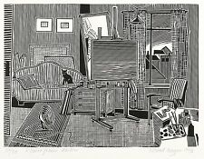 Roland r. Berger-petit gris atelier-Linolschnitt 1976
