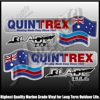 QUINTREX - BLADE HULLS - Set of 4 Decals - BOAT DECALS