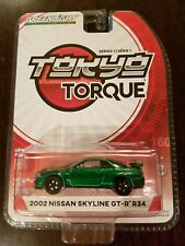 Greenlight Club Tokyo Torque 2002 Nissan Skyline GT-R R34 *Chase* Green Machine