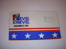 VINTAGE IDEAL EVEL KNIEVEL SCRAMBLE VAN VINYL RIGHT SIDE PANEL REPLACEMENT PART!