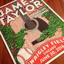 James Taylor Jackson Browne Wrigley Field  Baseball Chicago Cubs Poster GIGART