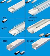 2M LED profile avec couverture profil pour rubans LED réalisés en PVC