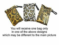 Animal Print Design Eco Fold Up Shopping Bag For Life In Pouch - ONE AT RANDOM