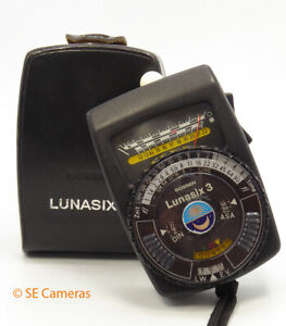BLACK GOSSEN LUNASIX 3 LIGHT EXPOSURE METER TESTED *EXCELLENT*