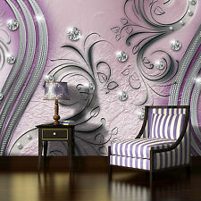 Fototapete XXL KUNST DIAMANT ORNAMENT Abstrakt Schlafzimmer Tapete Wandtapete 18