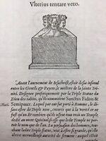 Dieu des Sabins Italie 1557 Rome Guillaume de Hainaut Hollande Rare Gravure