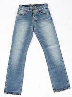 Nudie Herren Regular Straight Fit Jeans - Average Joe Stonewashed - W27 L32