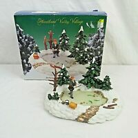 Heartland Valley Deluxe Village Accessory Fisherman at Pond HTF O'Well