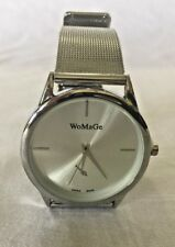 WoMaGe Unisex Stainless Steel Silver Watch