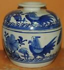 """Antique Qing Republic Rooster 6.25"""" Covered Dish / Pot/ Bowl Porcelain 19th/20th"""