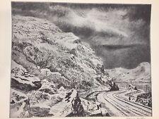 "A Treasury of American Prints, Harry Wickey ""Hudson Highlands Under Snow"""