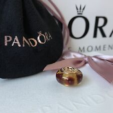 PANDORA 14ct Gold Brown Mystic Murano Charm 750402 ~ NEW in Box ~ Genuine