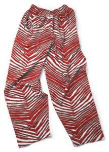 NEW Mens Zubaz Ohio State Buckeyes Scarlet & Gray Zebra Print Casual Pants XL