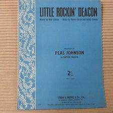 song sheet LITTLE ROCKIN' DEACON , Plas Johnson 1958