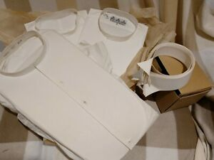 3 Vintage Stiff Fronted Dress Shirts & 5 collars 1 Gieves & Hawkes White 15 1/2