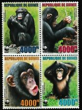WWF Chimpanzees block of 4 mnh stamps 2006 Guinea