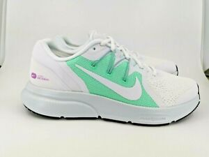 Nike Womens Zoom Span 3 UK 7 White White Green Glow CQ9267-106