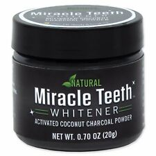 Miracle Teeth Whitener As Seen On TV Natural Activated Coconut Charcoal Powder