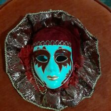Beautiful Vintage Orleans Mardi Gras Ceramic Face Mask Wall Decor