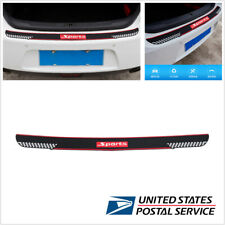 Sport Style Car Rear Guard Bumper Scratch Protector Non-slip Pad Cover Black+Red