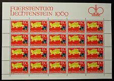 Sello LIECHTENSTEIN Stamp Yvert y Tellier nº468 x20 De Hecho De La Hoja N Y5