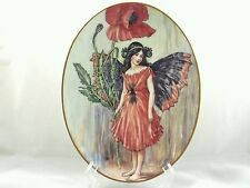 The Poppy Fairy Royal Worcester Wall Plate Flower Fairies 75 Years C M Barker