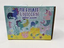Mermaid Unicorn Glitter Puzzle 48 pcs