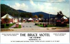 MOREHEAD, Kentucky  KY   Roadside  THE BRUCE MOTEL  1964   Postcard