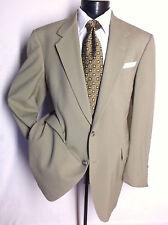 """Hart schaffner Marx 2PC Suit Solid khaki Color 2 Button SZ 42L  Pants 36"""" x 30 """""""